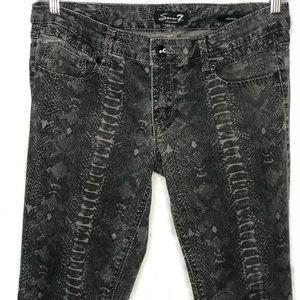 Seven7 Gray Black Snake Skinny Jeans